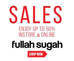 Fullah Sugah εκπτώσεις που φτάνουν έως και 50% στο online shop